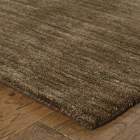 Aniston Brown  Solid  Transitional Rug - Free Shipping