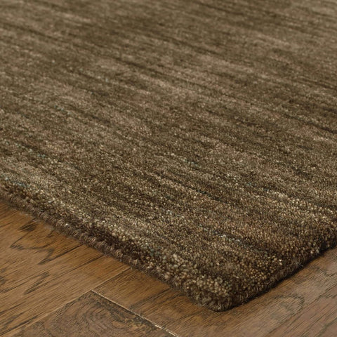 Aniston Brown  Solid  Transitional Rug