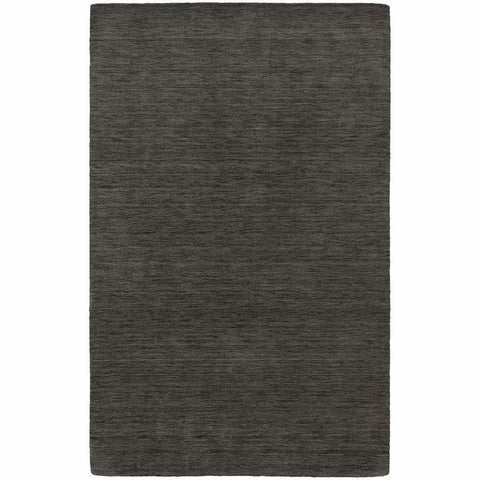Aniston Charcoal  Solid  Transitional Rug
