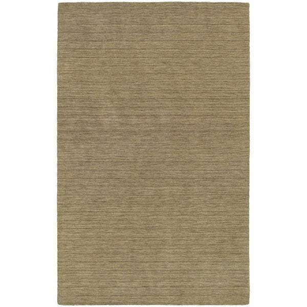 Aniston Gold  Solid  Transitional Rug - Free Shipping