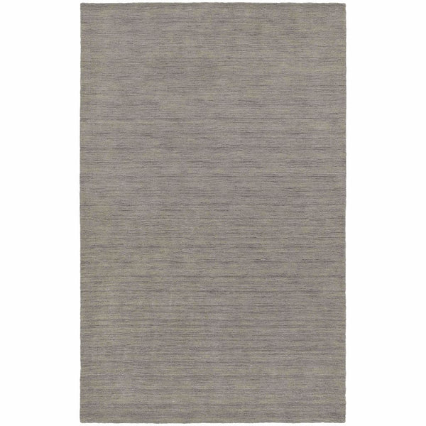 Aniston Grey  Solid  Transitional Rug - Free Shipping
