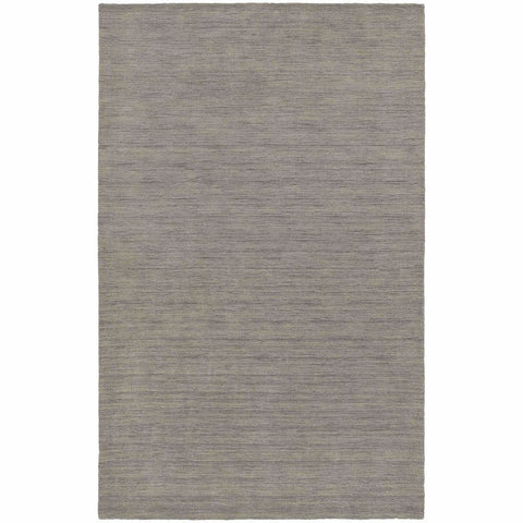 Aniston Grey  Solid  Transitional Rug