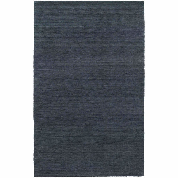Aniston Navy  Solid  Transitional Rug - Free Shipping