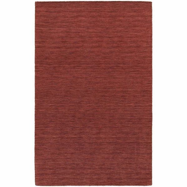 Aniston Red  Solid  Transitional Rug - Free Shipping