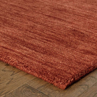 Tufted - Aniston Red  Solid  Transitional Rug