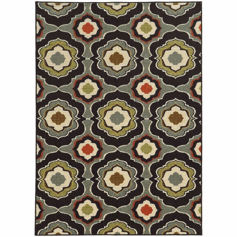 Oriental Weavers Arabella Black Grey Floral  Transitional Rug