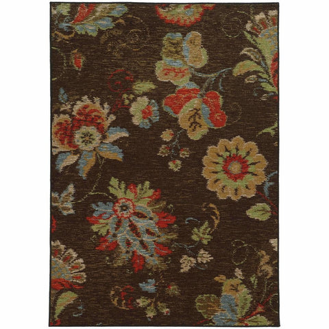 Oriental Weavers Arabella Brown Multi Floral  Transitional Rug