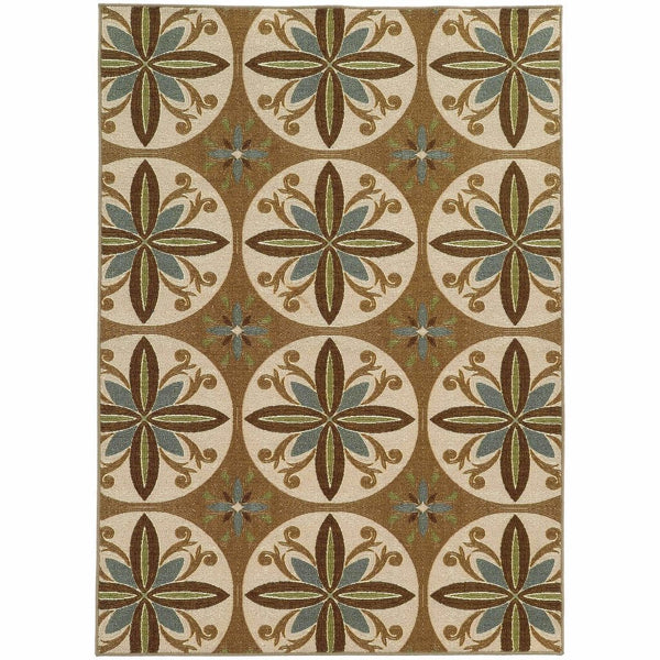 Tufted - Arabella Tan Ivory Floral  Transitional Rug