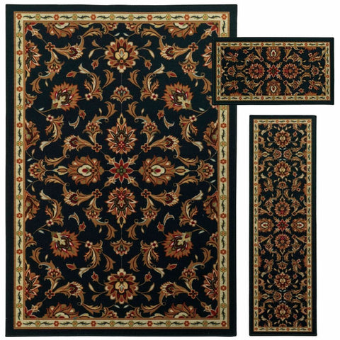 Oriental Weavers Benton Brown Beige Floral Oriental Traditional Rug
