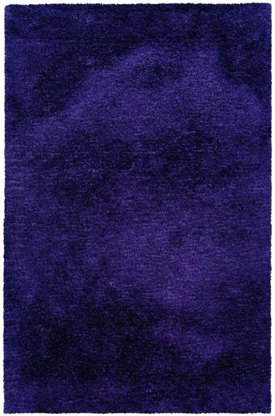 Cosmo Purple  Solid  Shag Rug - Free Shipping