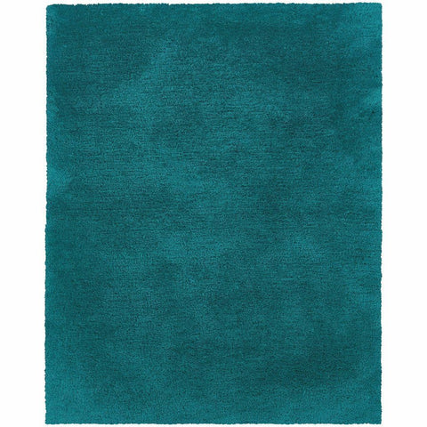 Cosmo Teal  Solid  Shag Rug