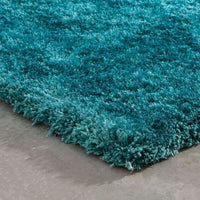 Tufted - Cosmo Teal  Solid  Shag Rug