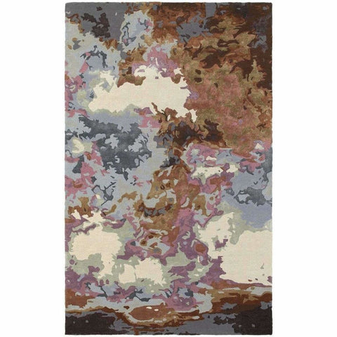 Oriental Weavers Galaxy Blue Brown Abstract  Contemporary Rug