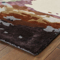 Tufted - Galaxy Blue Brown Abstract  Contemporary Rug