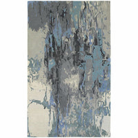 Galaxy Blue Grey Abstract  Contemporary Rug - Free Shipping