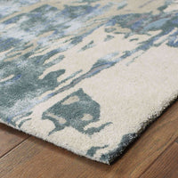 Tufted - Galaxy Blue Grey Abstract  Contemporary Rug