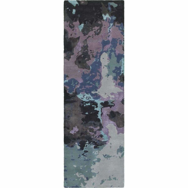 Tufted - Galaxy Blue Purple Abstract  Contemporary Rug