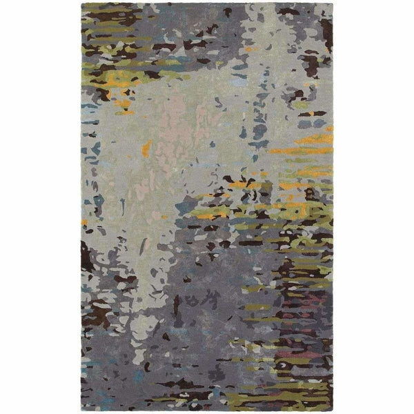 Galaxy Multi Grey Abstract  Contemporary Rug - Free Shipping