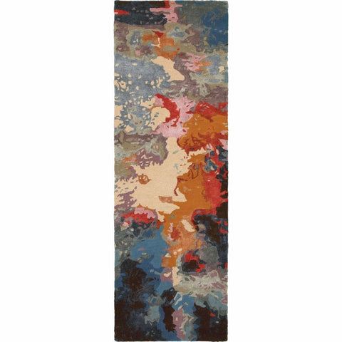 Oriental Weavers Galaxy Multi Pink Abstract  Contemporary Rug