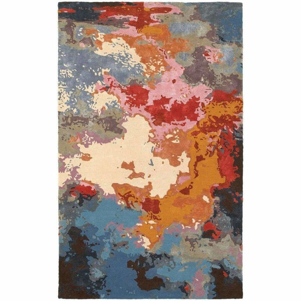 Galaxy Multi Pink Abstract  Contemporary Rug - Free Shipping