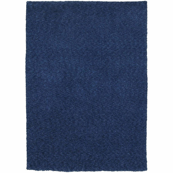 Tufted - Heavenly Blue  Solid Heathered Shag Rug