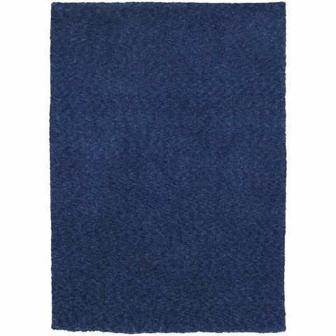Heavenly Blue  Solid Heathered Shag Rug