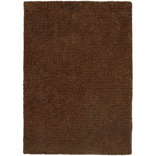 Heavenly Brown  Solid Heathered Shag Rug