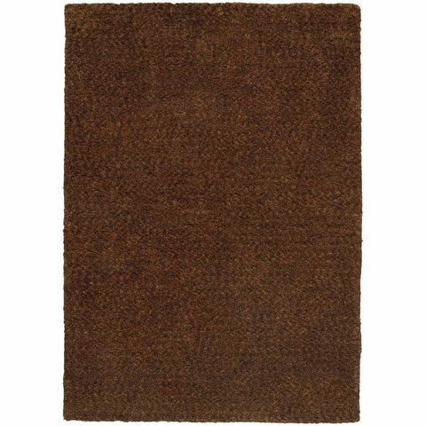 Oriental Weavers Heavenly Brown  Solid Heathered Shag Rug