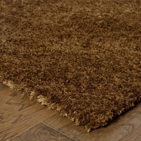 Tufted - Heavenly Brown  Solid Heathered Shag Rug
