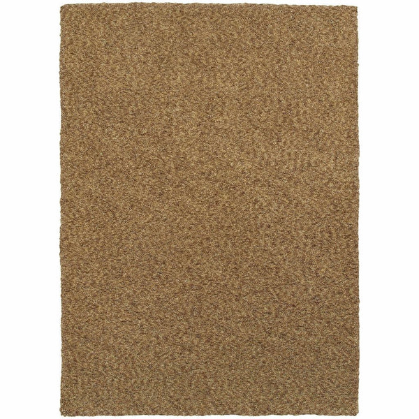 Heavenly Gold  Solid Heathered Shag Rug - Free Shipping