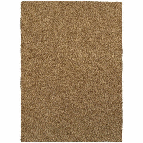 Heavenly Gold  Solid Heathered Shag Rug