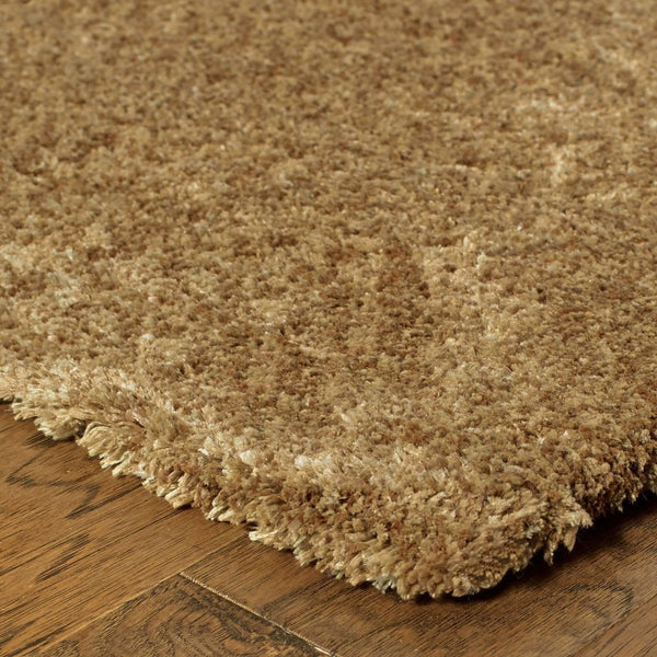 Tufted - Heavenly Gold  Solid Heathered Shag Rug