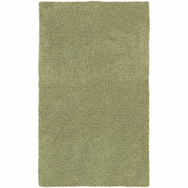 Heavenly Green  Solid Heathered Shag Rug - Free Shipping