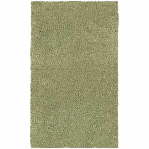 Heavenly Green  Solid Heathered Shag Rug