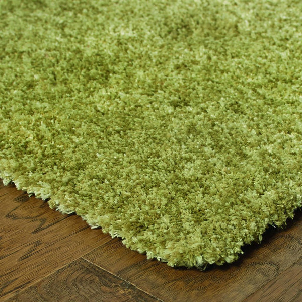 Tufted - Heavenly Green  Solid Heathered Shag Rug