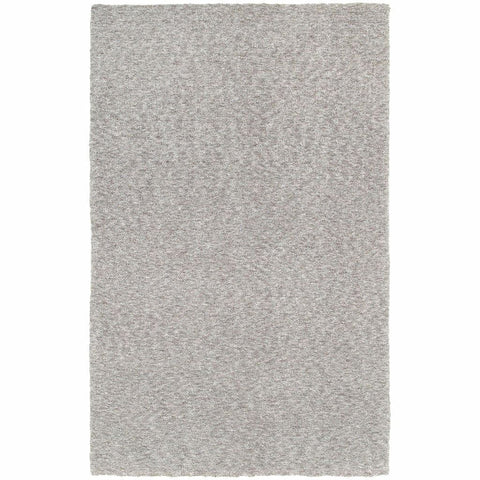 Heavenly Grey  Solid Heathered Shag Rug