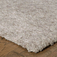 Tufted - Heavenly Grey  Solid Heathered Shag Rug