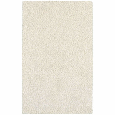 Heavenly Ivory  Solid Heathered Shag Rug
