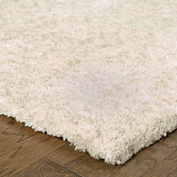 Tufted - Heavenly Ivory  Solid Heathered Shag Rug