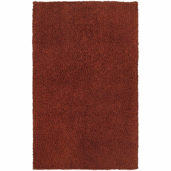 Oriental Weavers Heavenly Red  Solid Heathered Shag Rug