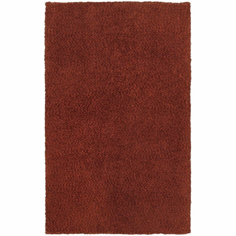 Heavenly Red  Solid Heathered Shag Rug