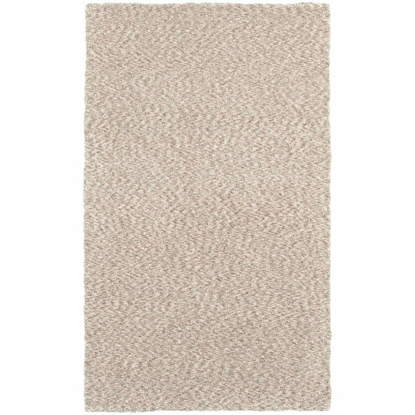 Heavenly Tan  Solid Heathered Shag Rug