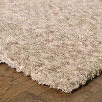 Tufted - Heavenly Tan  Solid Heathered Shag Rug