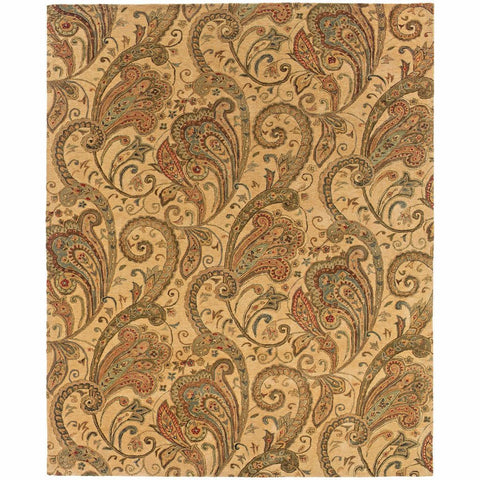 Oriental Weavers Huntley Beige Gold Paisley  Transitional Rug