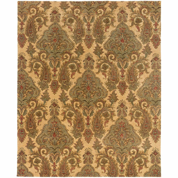 Tufted - Huntley Beige Green Floral  Transitional Rug