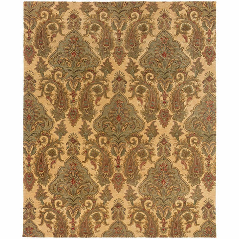 Oriental Weavers Huntley Beige Green Floral  Transitional Rug
