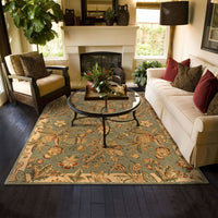 Tufted - Huntley Blue Ivory Floral Tropical Transitional Rug