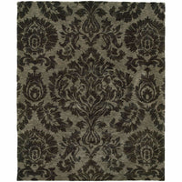 Huntley Grey  Floral  Transitional Rug - Free Shipping
