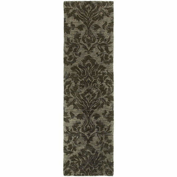 Tufted - Huntley Grey  Floral  Transitional Rug