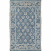 Manor Blue Grey Oriental Persian Traditional Rug - Free Shipping